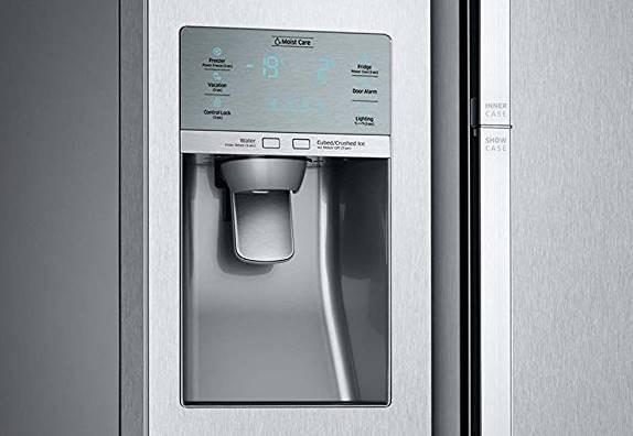 frigo avec distributeur d 39 eau et de gla ons un luxe tr s pratique. Black Bedroom Furniture Sets. Home Design Ideas