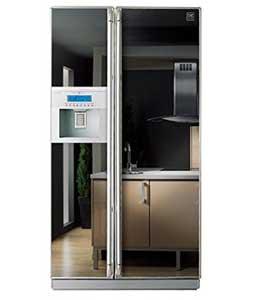 Miroirs sur un frigo américain