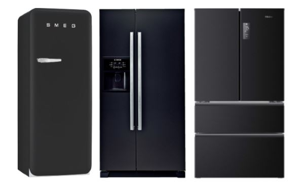 frigo noir 25 best ideas about frigo americain on pinterest day of cuisine avec frigo noir id. Black Bedroom Furniture Sets. Home Design Ideas