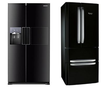 un frigo am ricain noir dans ma cuisine. Black Bedroom Furniture Sets. Home Design Ideas